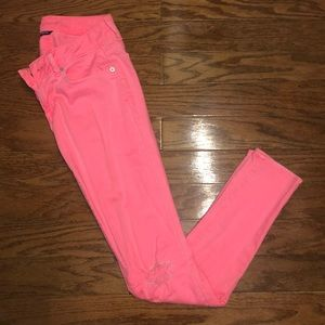 Pink Distressed American Eagle Jeans
